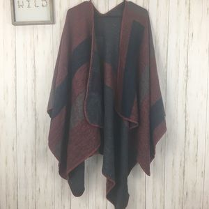 BB Dakota Over sized Blanket Shawl Plaid